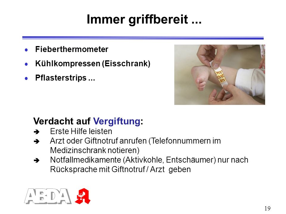 Immer griffbereit ... Verdacht auf Vergiftung: Fieberthermometer