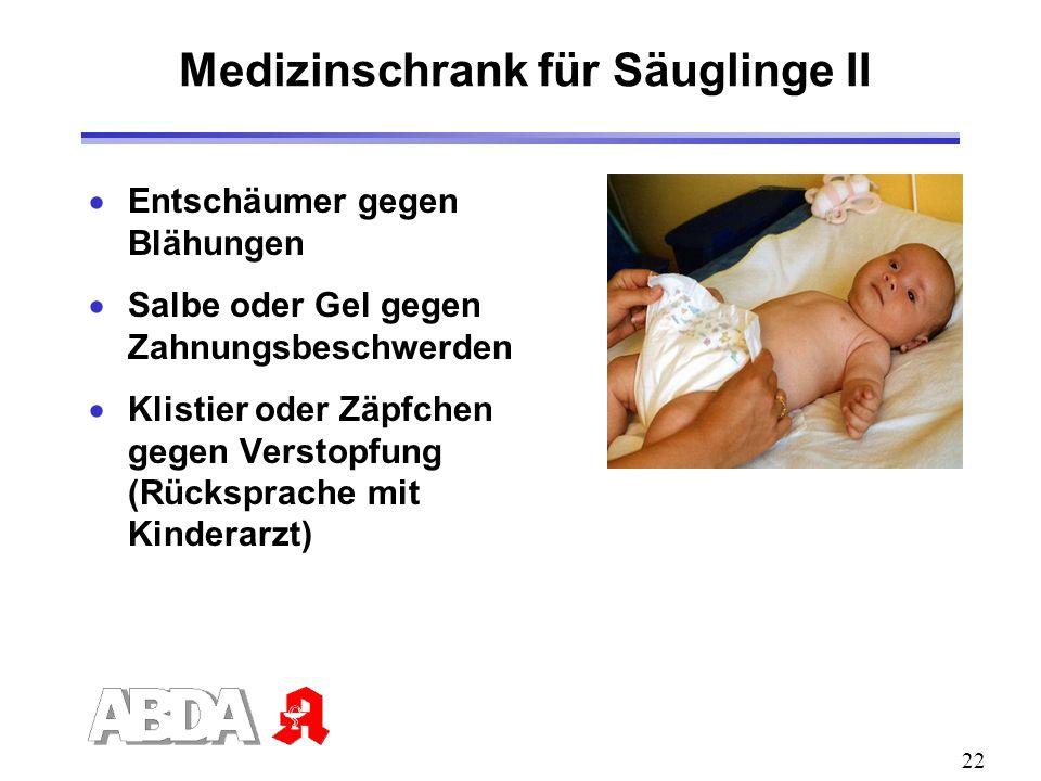 Medizinschrank für Säuglinge II