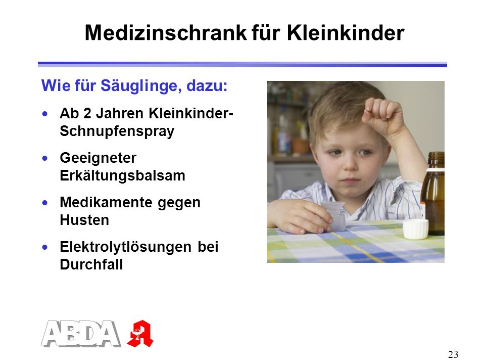 Medizinschrank für Kleinkinder