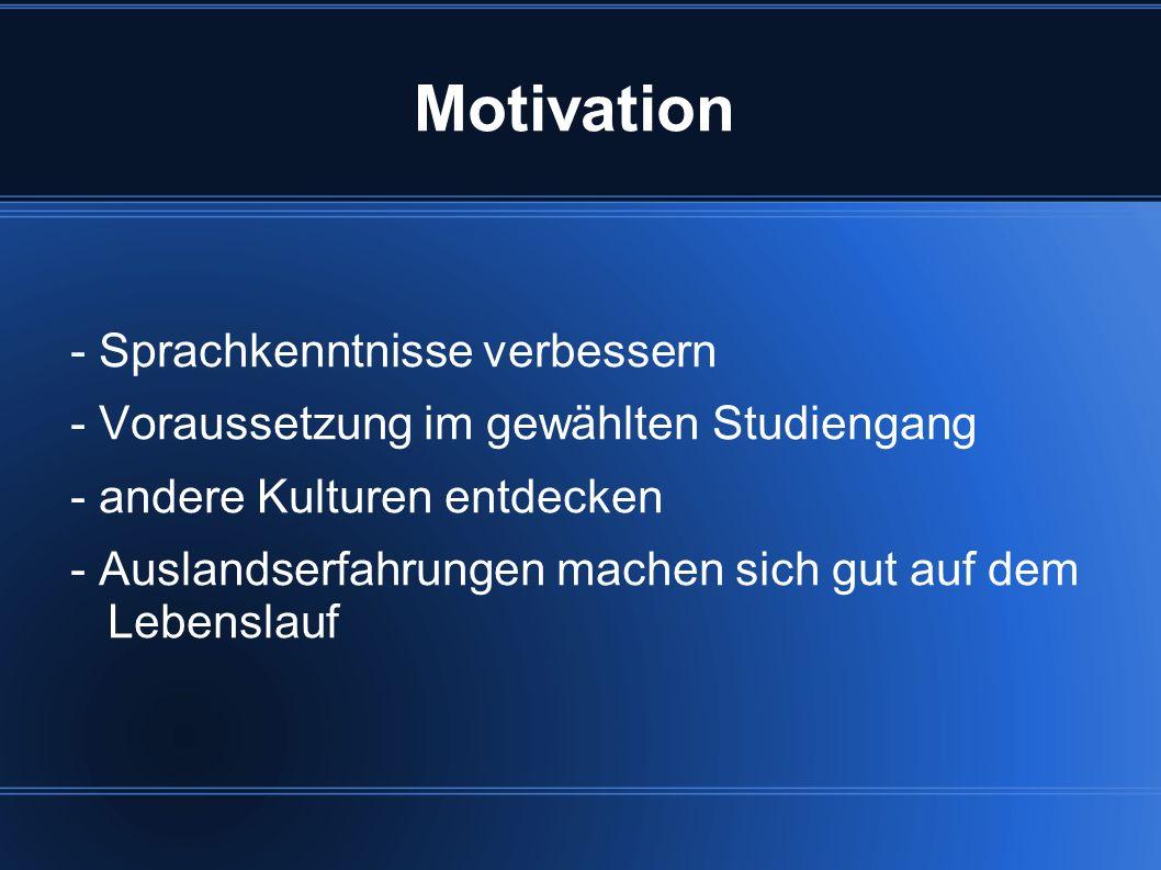Motivation - Sprachkenntnisse verbessern