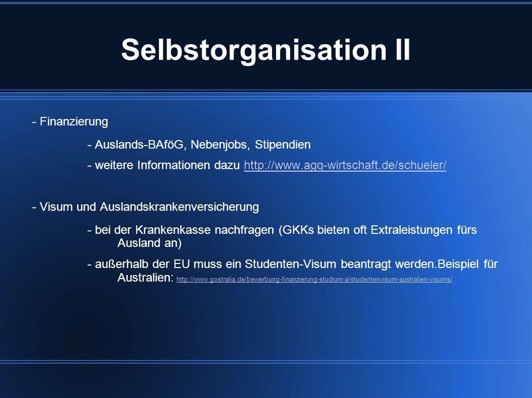 Selbstorganisation II