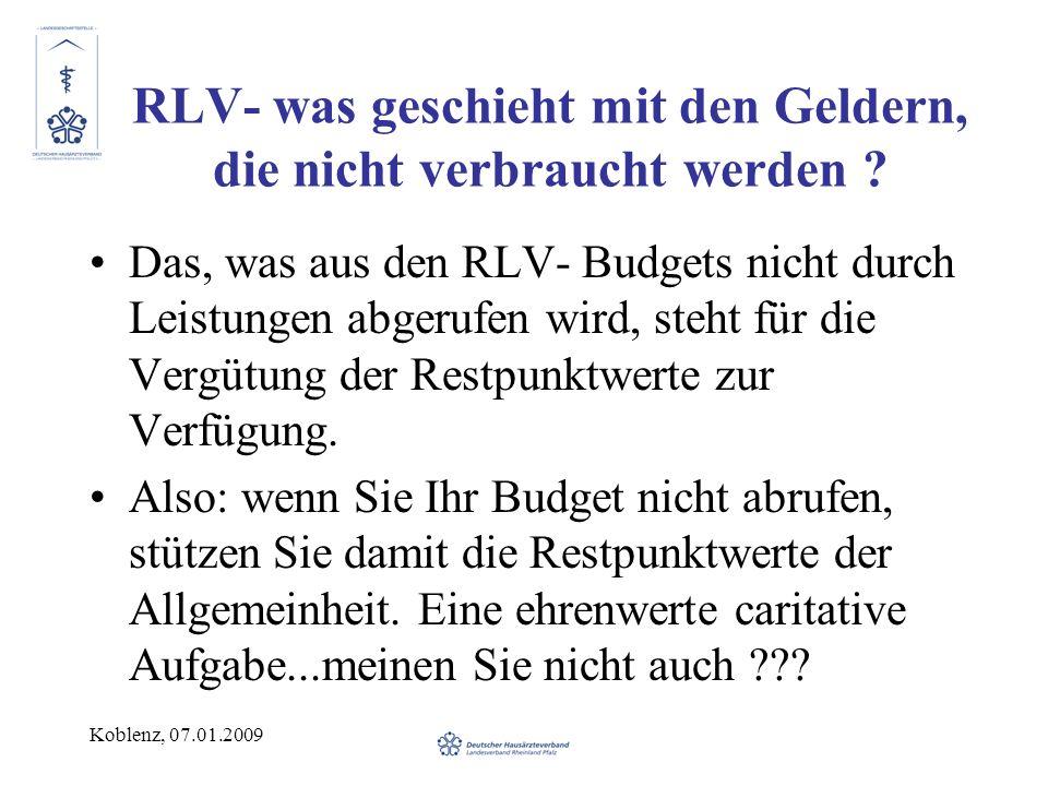RLV- was geschieht mit den Geldern, die nicht verbraucht werden