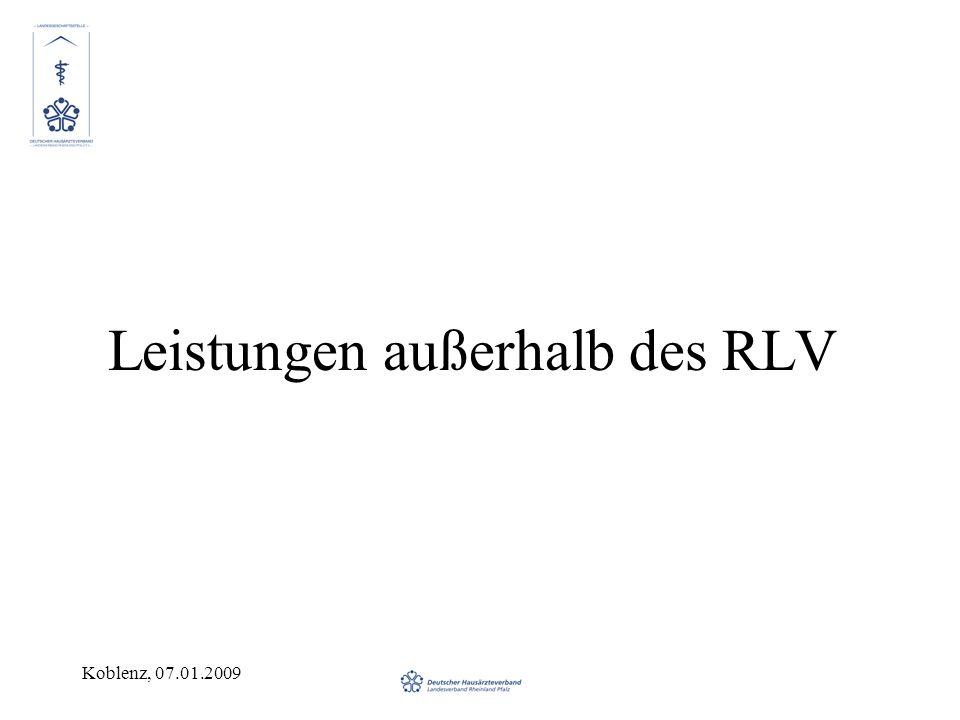 Leistungen außerhalb des RLV