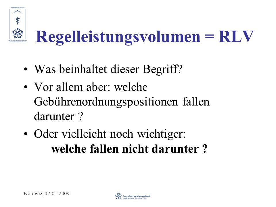 Regelleistungsvolumen = RLV