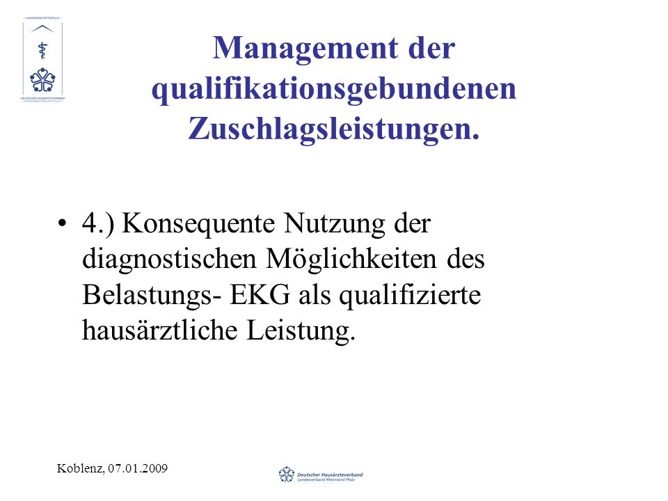 Management der qualifikationsgebundenen Zuschlagsleistungen.