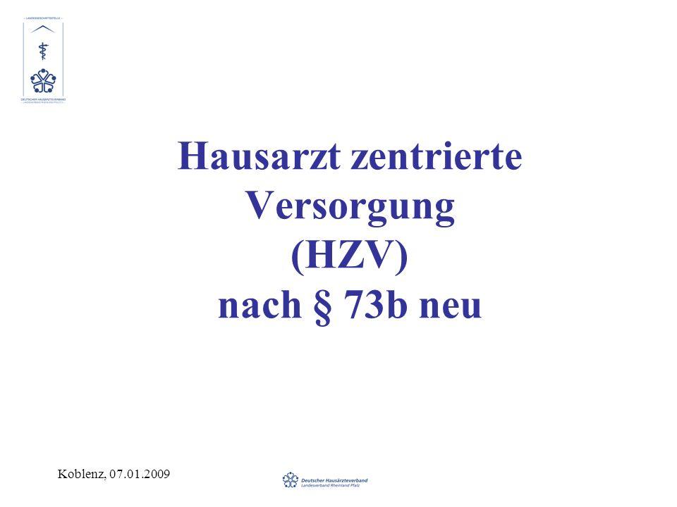 Hausarzt zentrierte Versorgung (HZV) nach § 73b neu