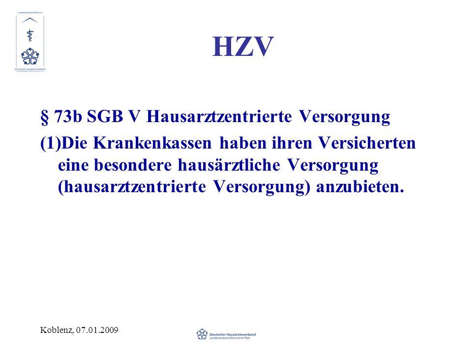 HZV § 73b SGB V Hausarztzentrierte Versorgung