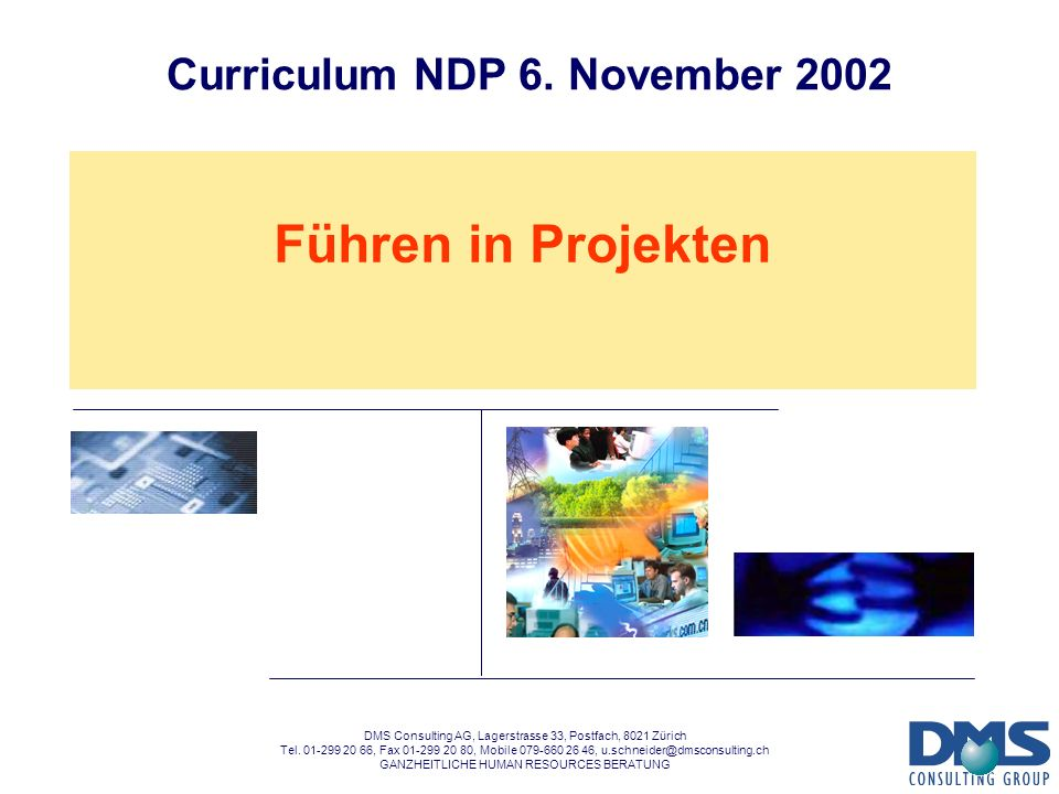 Curriculum NDP 6. November 2002