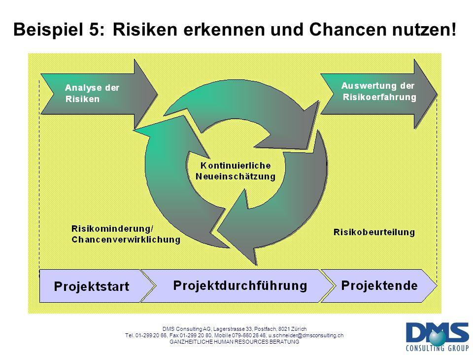 Beispiel 5: Risiken erkennen und Chancen nutzen!