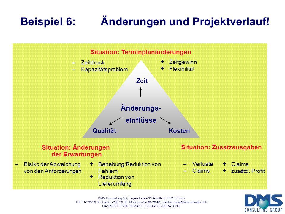 Beispiel 6: Änderungen und Projektverlauf!