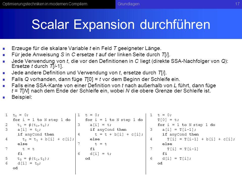 Scalar Expansion durchführen
