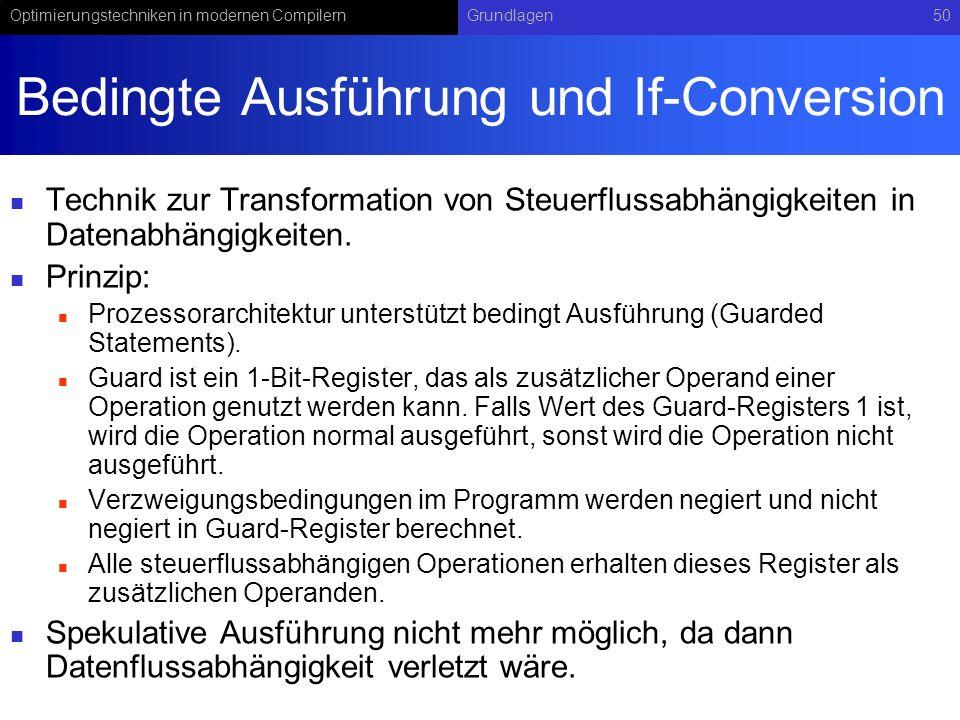 Bedingte Ausführung und If-Conversion