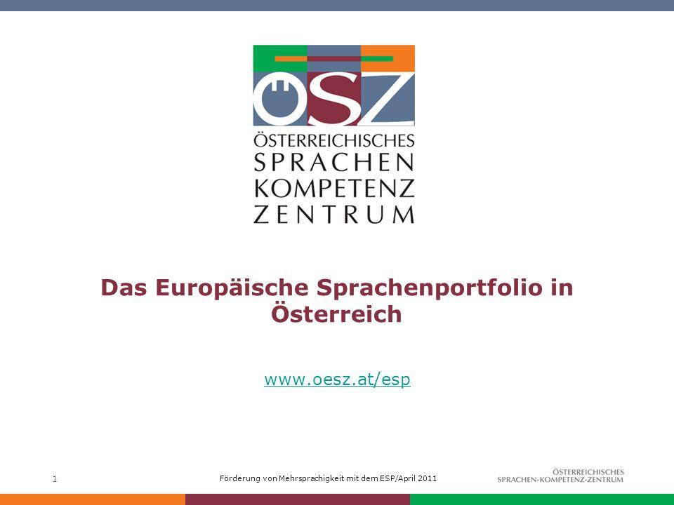 Das Europäische Sprachenportfolio in Österreich