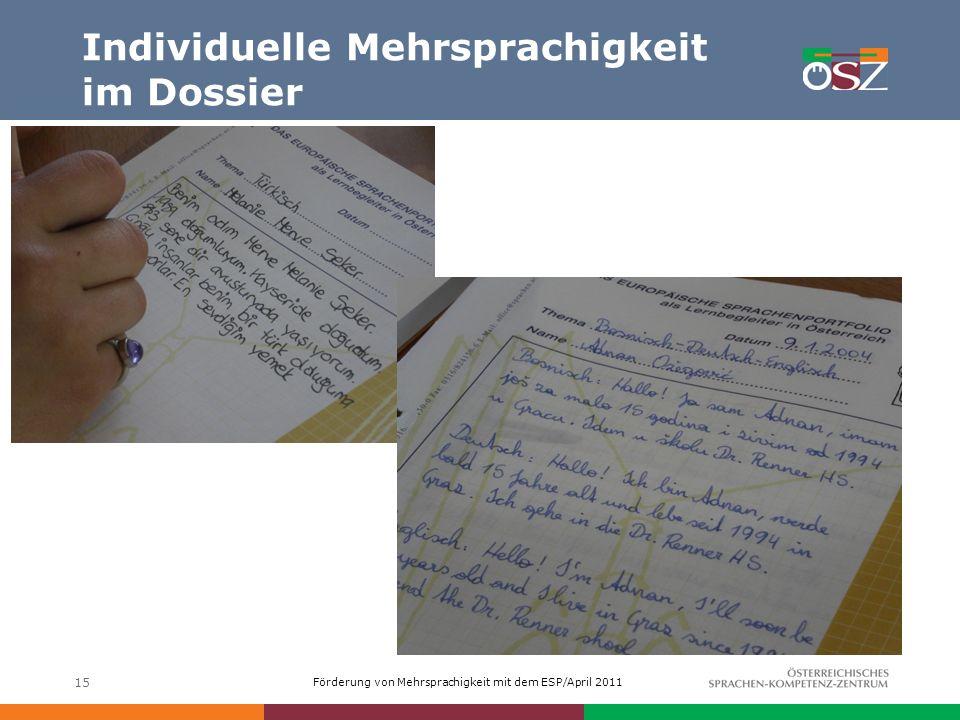 Individuelle Mehrsprachigkeit im Dossier