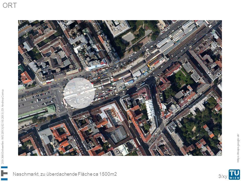 ORT Naschmarkt, zu überdachende Fläche ca 1500m2