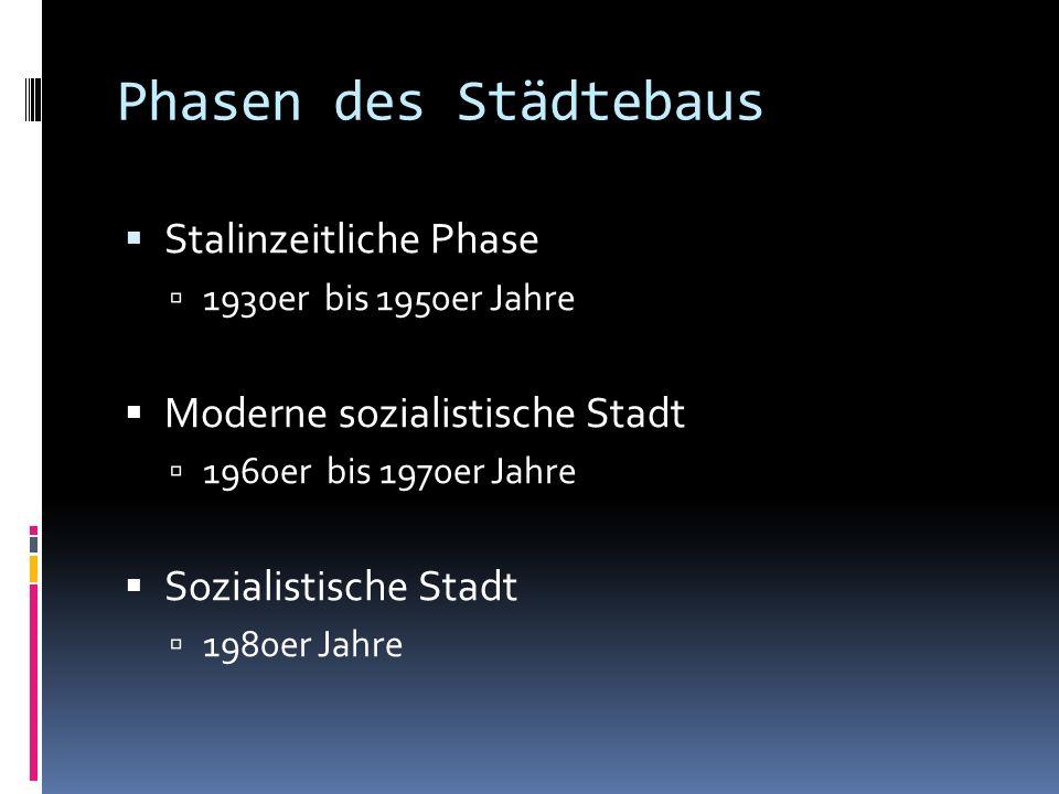 Phasen des Städtebaus Stalinzeitliche Phase