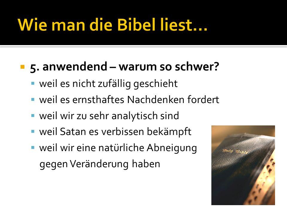 Wie man die Bibel liest…