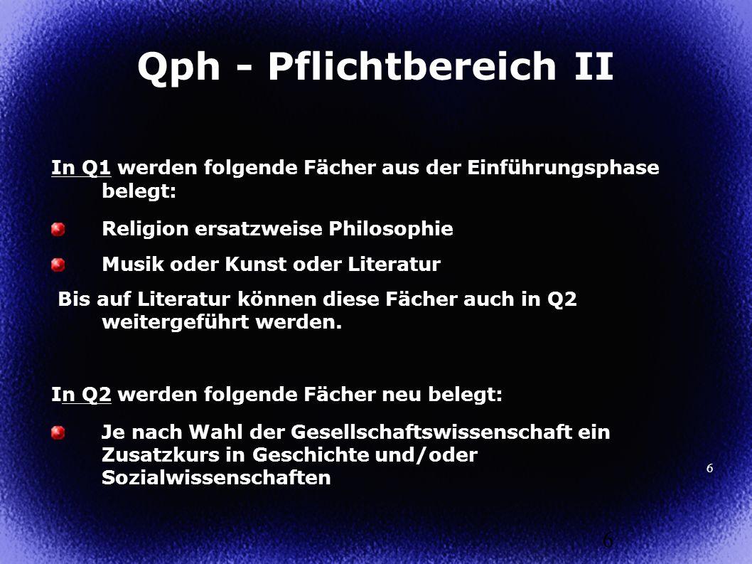 Qph - Pflichtbereich II