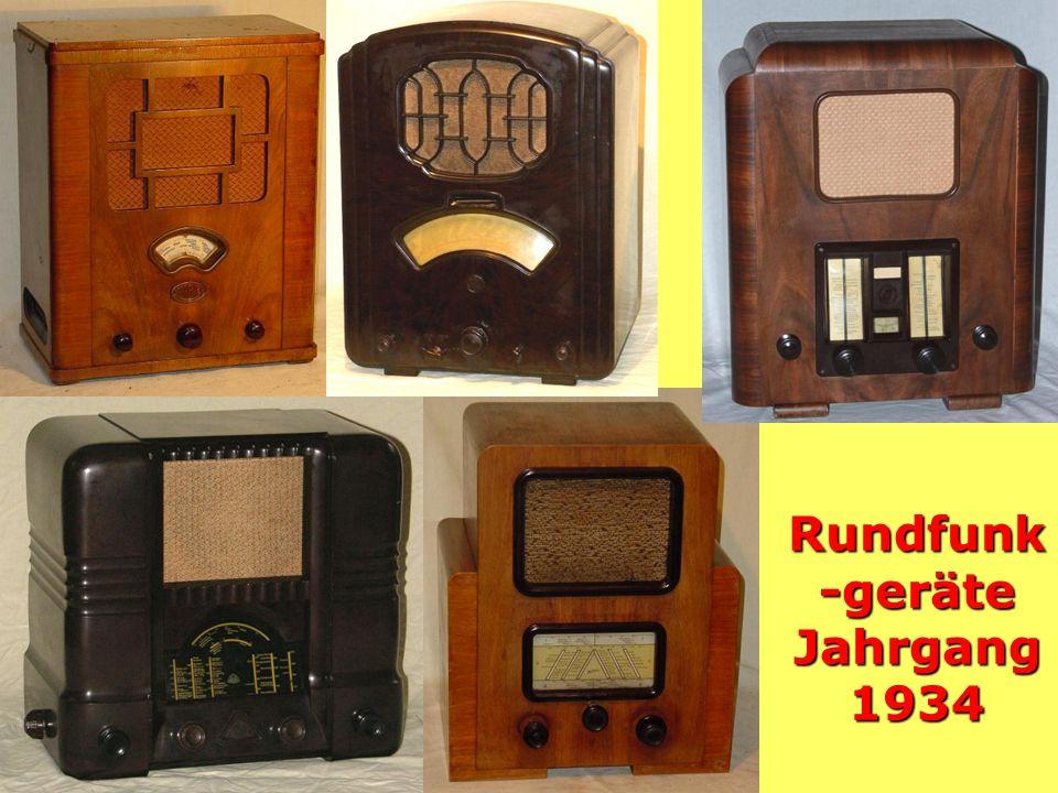 Rundfunk-geräte Jahrgang 1934