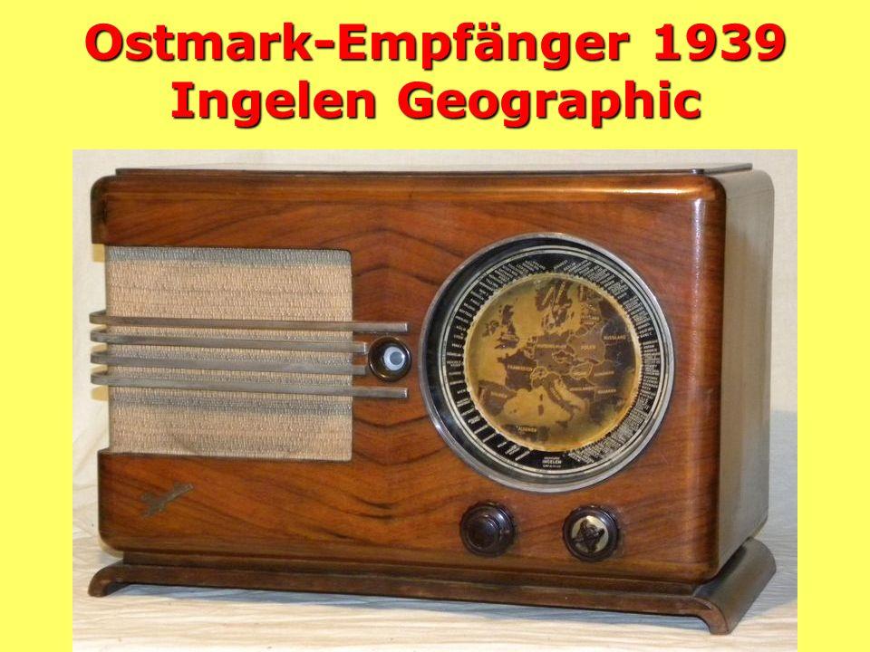 Ostmark-Empfänger 1939 Ingelen Geographic