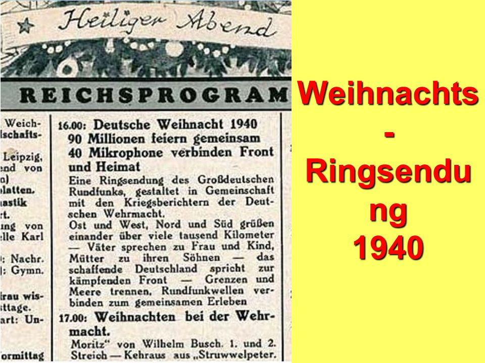 Weihnachts- Ringsendung 1940