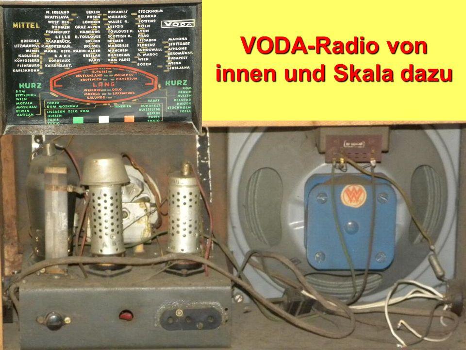 VODA-Radio von innen und Skala dazu