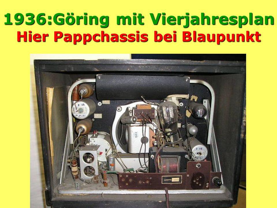 1936:Göring mit Vierjahresplan Hier Pappchassis bei Blaupunkt