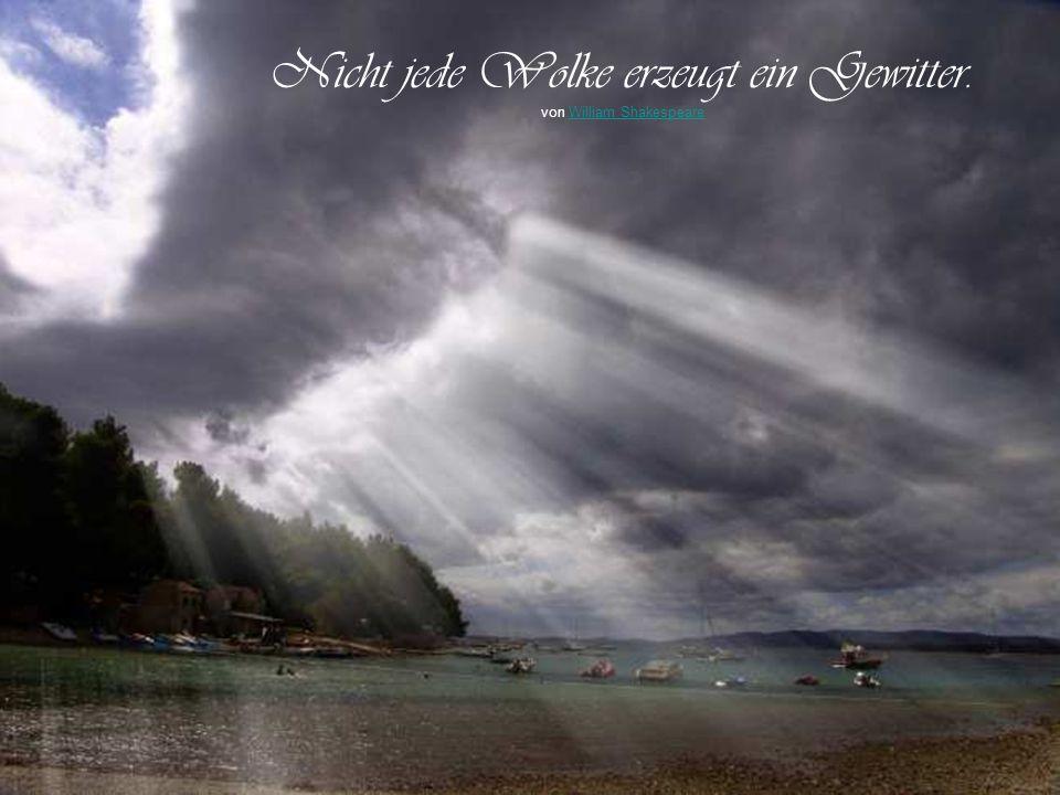 Nicht jede Wolke erzeugt ein Gewitter.
