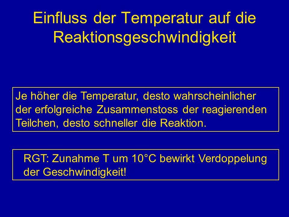 Einfluss der Temperatur auf die Reaktionsgeschwindigkeit