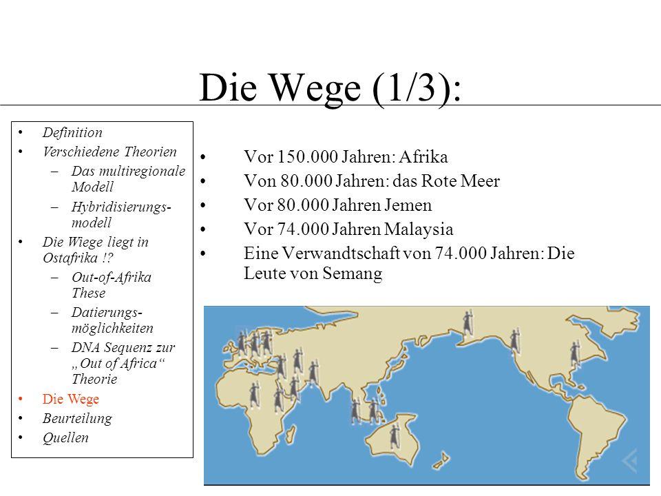Die Wege (1/3): Vor 150.000 Jahren: Afrika