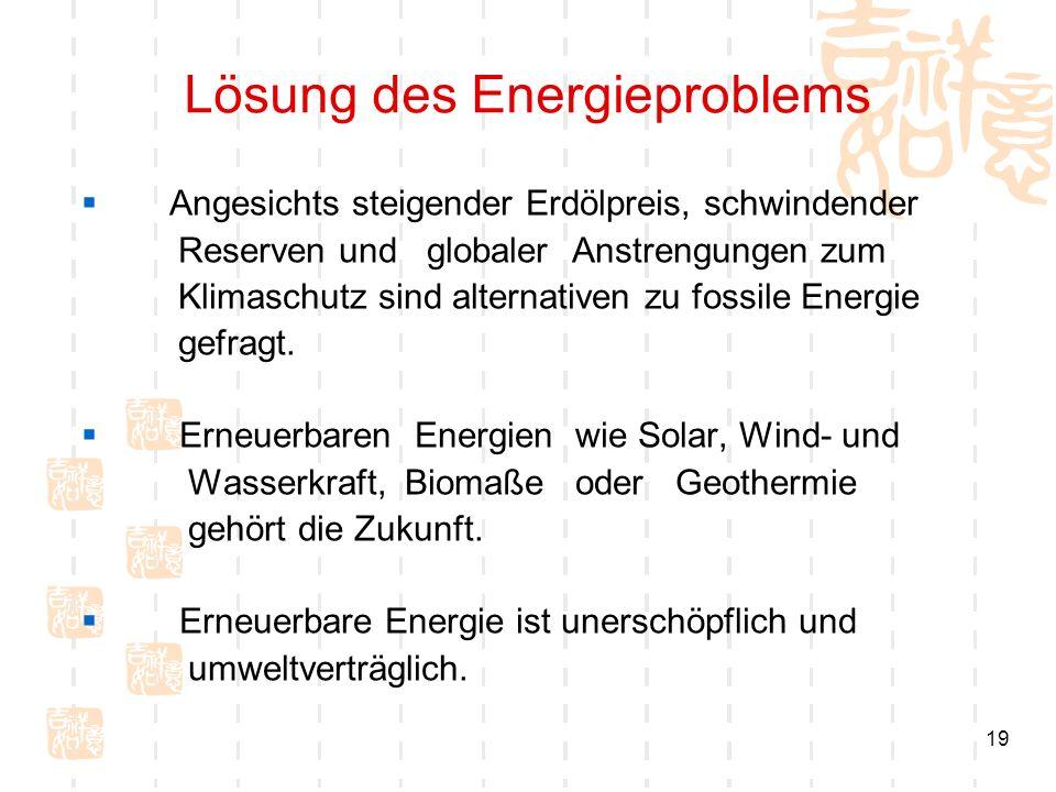 Lösung des Energieproblems