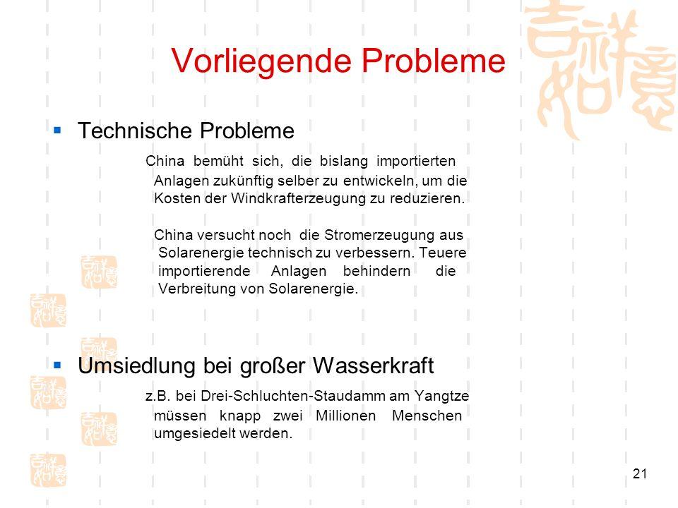Vorliegende Probleme Technische Probleme
