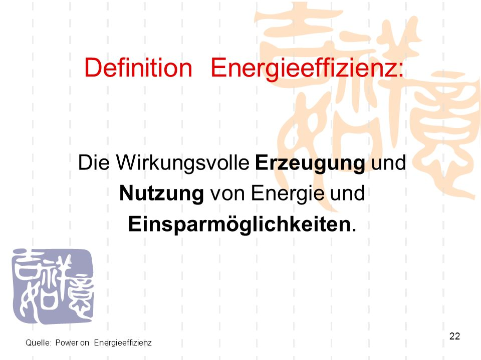 Definition Energieeffizienz: