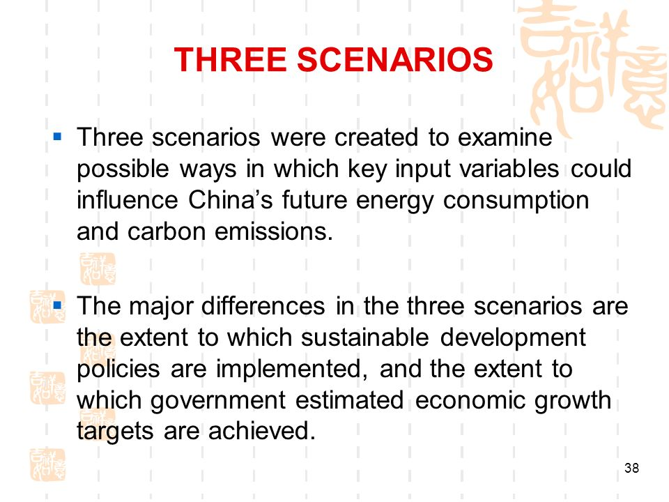 THREE SCENARIOS