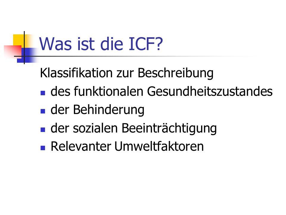 Was ist die ICF Klassifikation zur Beschreibung