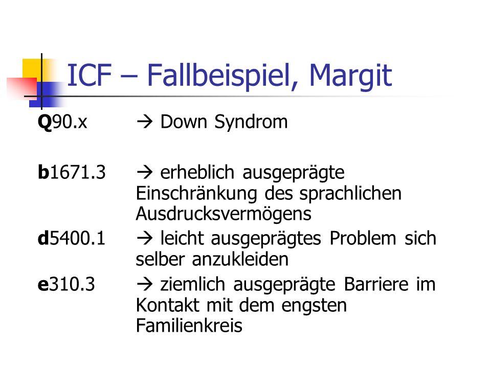 ICF – Fallbeispiel, Margit