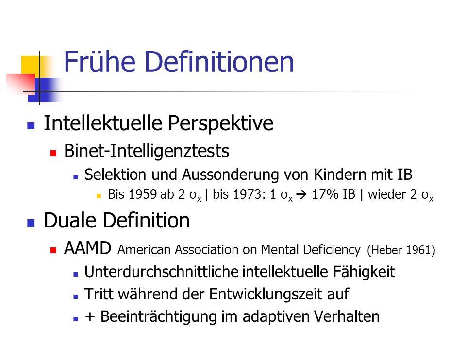 Frühe Definitionen Intellektuelle Perspektive Duale Definition