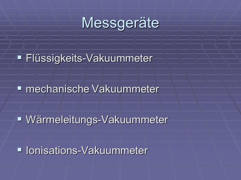 Messgeräte Flüssigkeits-Vakuummeter mechanische Vakuummeter