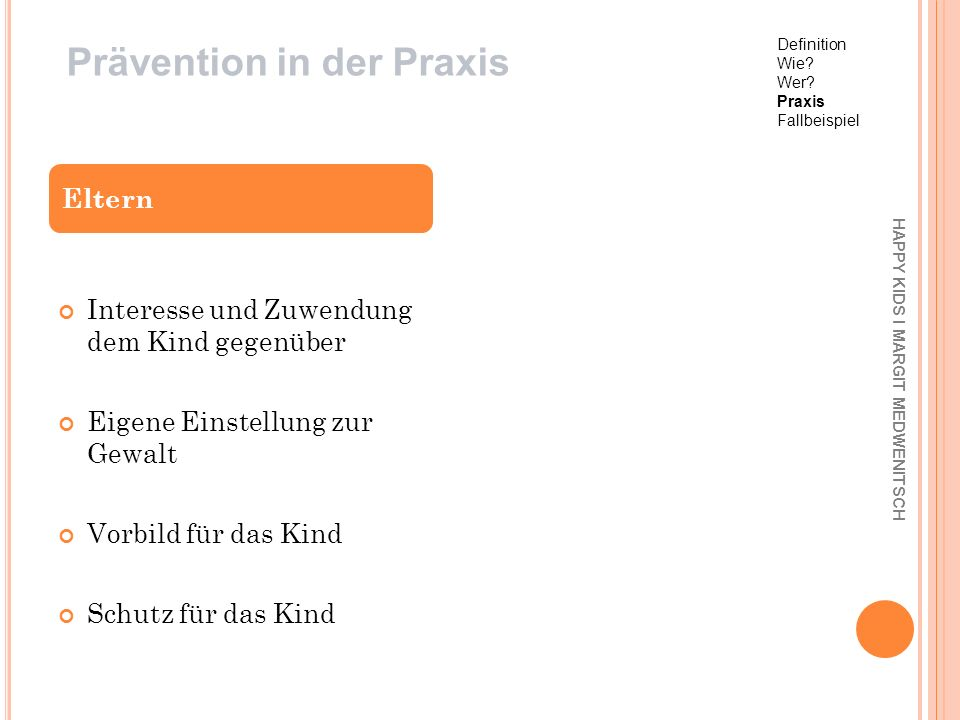 Prävention in der Praxis