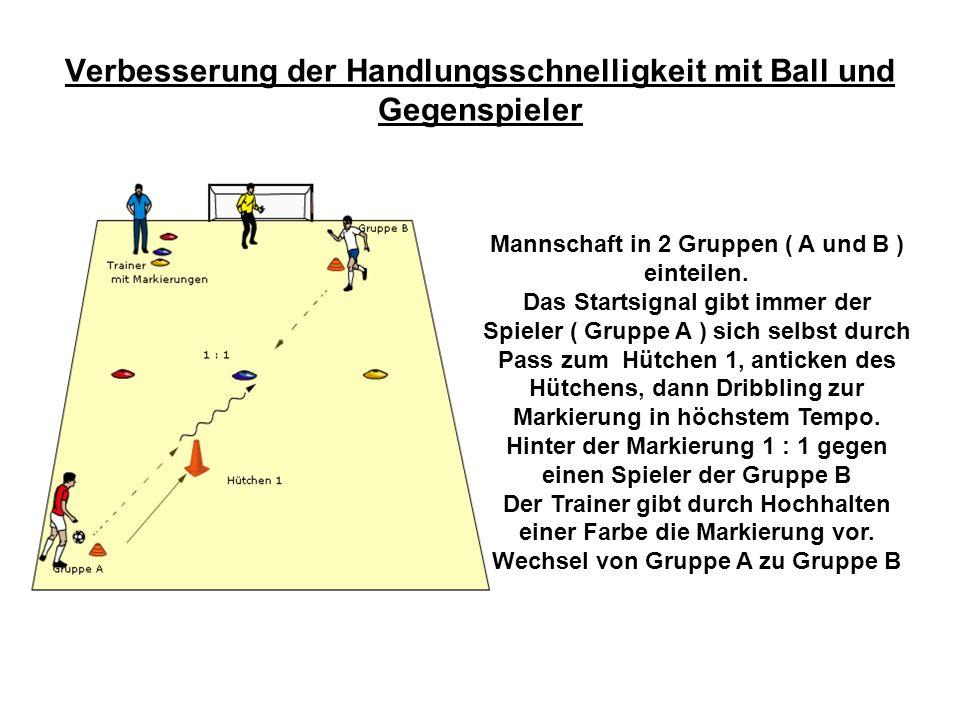 Verbesserung der Handlungsschnelligkeit mit Ball und Gegenspieler