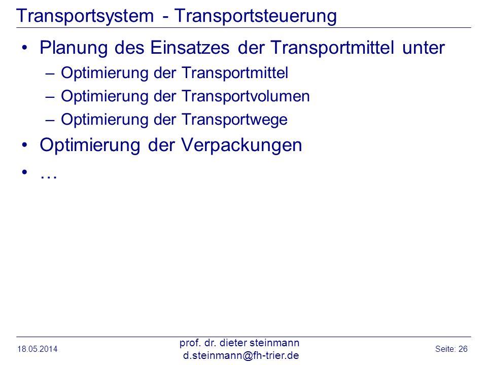 Transportsystem - Transportsteuerung