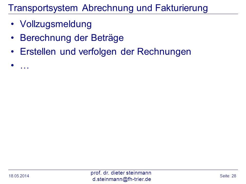 Transportsystem Abrechnung und Fakturierung