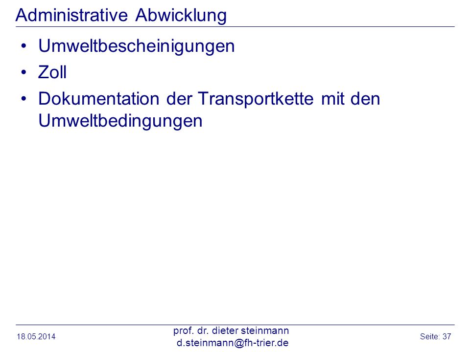 Administrative Abwicklung