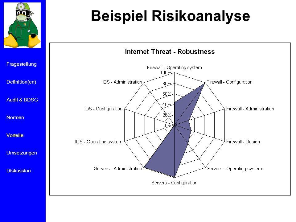 Beispiel Risikoanalyse