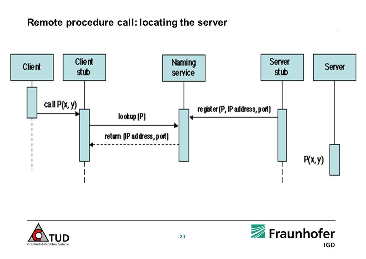 Remote procedure call: locating the server
