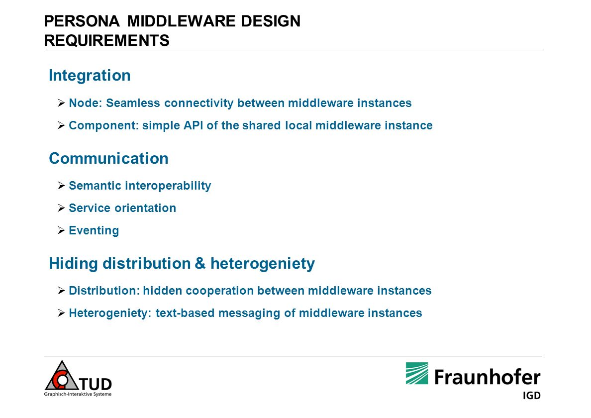 PERSONA MIDDLEWARE DESIGN REQUIREMENTS