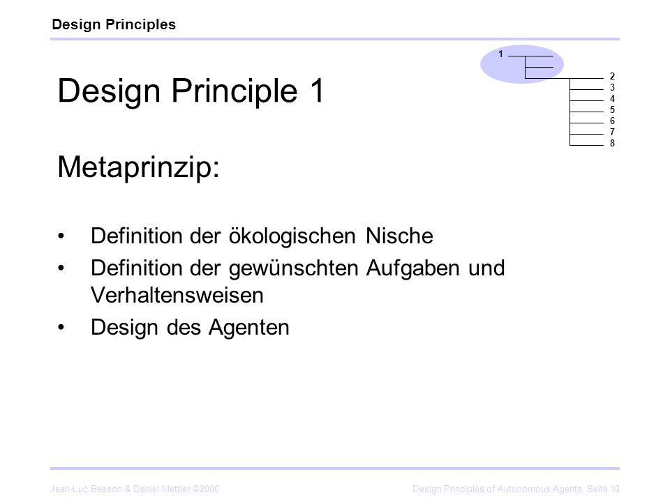Design Principle 1 Metaprinzip: Definition der ökologischen Nische