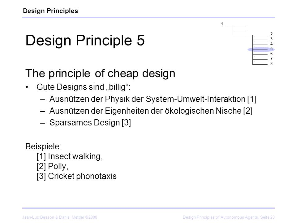 Design Principle 5 The principle of cheap design