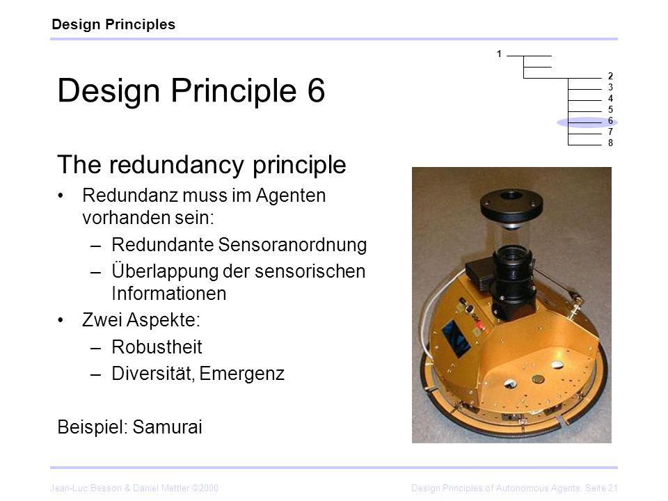 Design Principle 6 The redundancy principle