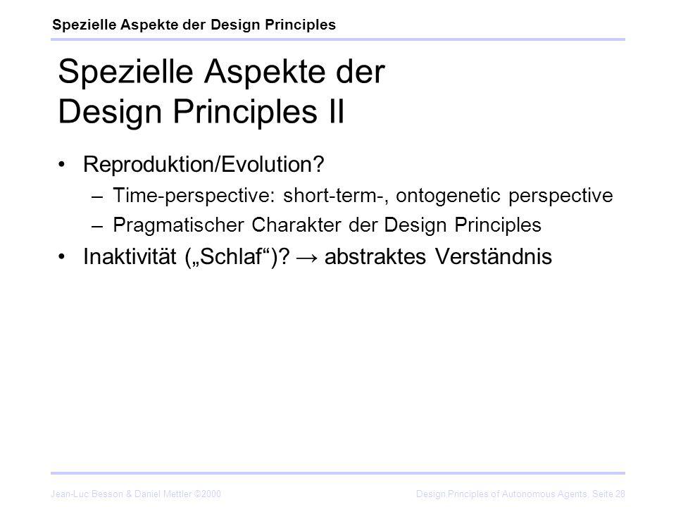 Spezielle Aspekte der Design Principles II